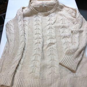 White LOFT sweater